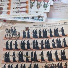Coleccionismo Recortables: RECORTABLES DE PROCESIÓN DE LA CONGREGACIÓN DE LA BUENA MUERTE EN BARCELONA PALUZIE. Lote 175283739