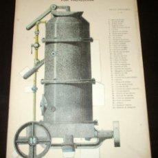 Coleccionismo Recortables: INYECTADORA DE CEMENTO. LÁMINA 89 DE LA REVISTA EL MUNDO CIENTÍFICO. PRINCIPIOS SIGLO XX.. Lote 175745430