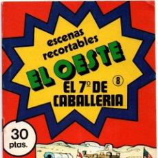 Coleccionismo Recortables: ANTIGUO CUADERNO DE RECORTABLES ESCENAS EL OESTE Nº 8 EL 7º CABALLERÍA 1979 DIBUJOS ISIDRO MONÉS VER. Lote 176074114