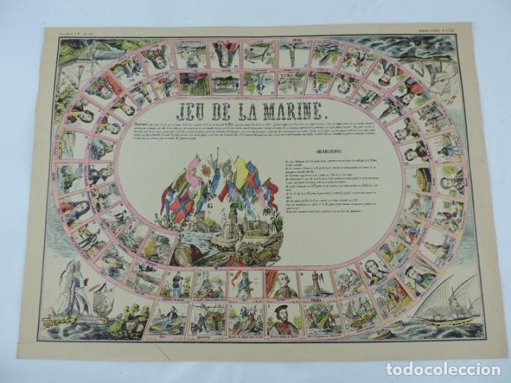 JUEGO EN PAPEL DE JEU DE LA MARINE. IMAGERIE D´EPINAL N. 1738, PELLERIN & CIE. IMP. EDIT. TIPO JUEGO (Coleccionismo - Otros recortables)
