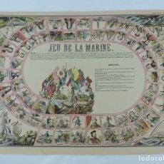 Coleccionismo Recortables: JUEGO EN PAPEL DE JEU DE LA MARINE. IMAGERIE D´EPINAL N. 1738, PELLERIN & CIE. IMP. EDIT. TIPO JUEGO. Lote 176627507