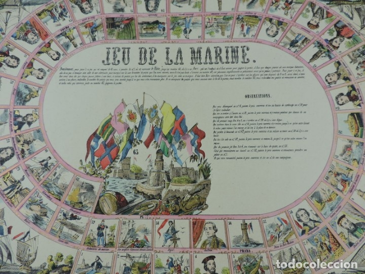 Coleccionismo Recortables: JUEGO EN PAPEL DE JEU DE LA MARINE. IMAGERIE D´EPINAL N. 1738, Pellerin & Cie. Imp. edit. TIPO JUEGO - Foto 2 - 176627507