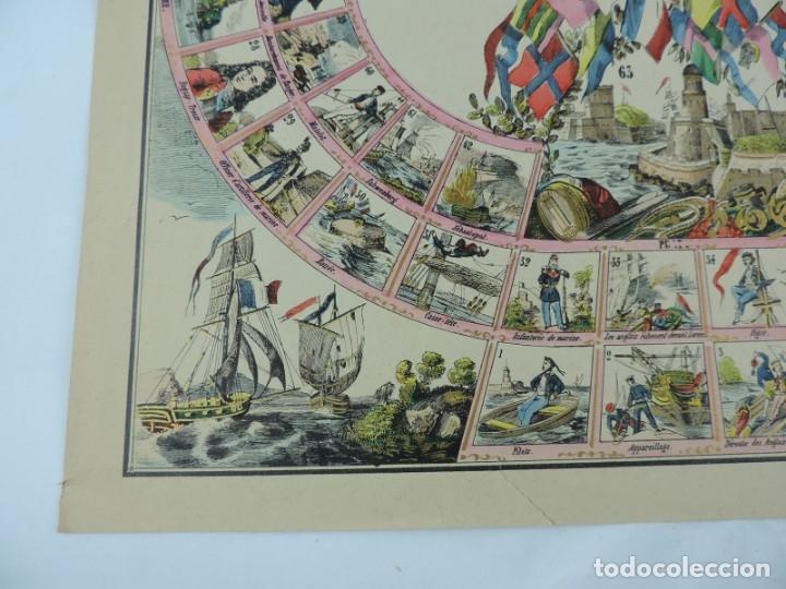 Coleccionismo Recortables: JUEGO EN PAPEL DE JEU DE LA MARINE. IMAGERIE D´EPINAL N. 1738, Pellerin & Cie. Imp. edit. TIPO JUEGO - Foto 5 - 176627507