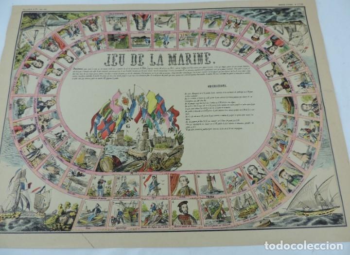 Coleccionismo Recortables: JUEGO EN PAPEL DE JEU DE LA MARINE. IMAGERIE D´EPINAL N. 1738, Pellerin & Cie. Imp. edit. TIPO JUEGO - Foto 7 - 176627507