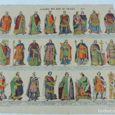 Coleccionismo Recortables: ANTIGUO RECORTABLE GALERIE DES ROIS DE FRANCE PL.2, N.7, LIT. PELLERIN, A EPINAL, GALERIA DE LOS REY. Lote 176639415