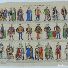 Coleccionismo Recortables: ANTIGUO RECORTABLE GALERIE DES ROIS DE FRANCE PL.3, LIT. PELLERIN, A EPINAL, GALERIA DE LOS REYES DE. Lote 176639927