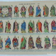 Coleccionismo Recortables: ANTIGUO RECORTABLE GALERIE DES ROIS DE FRANCE PL.1, N.6.LIT. PELLERIN, A EPINAL, GALERIA DE LOS REYE. Lote 176640613