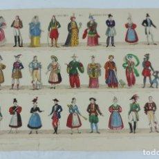 Coleccionismo Recortables: ANTIGUO RECORTABLE COSTUMES DE DIVERS PAYS, N.13, ESTAMPES BERRIEUX, N. 38, SIGLO XIX, ORIGINAL, PAP. Lote 176641913