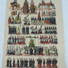 Coleccionismo Recortables: RECORTABLE DE PALUZIE. PROCESIÓN DEL CORPUS. MIDE 40 X 32 CM., Nº 378. LÁMINA CON FIGURAS QUE COMPON. Lote 176642327