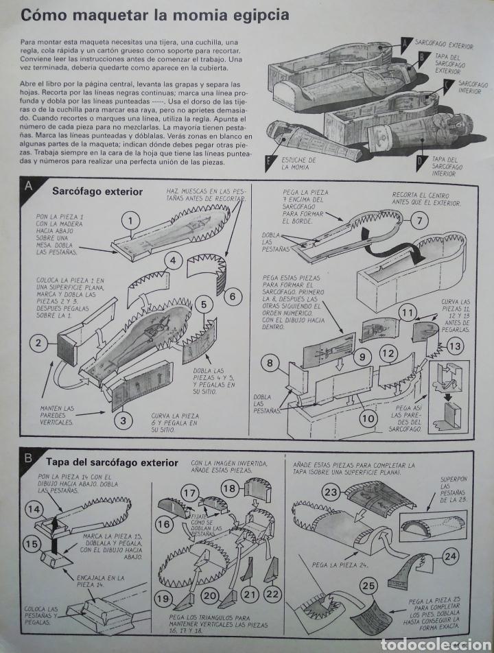 Coleccionismo Recortables: Maquetas Recortables: Construye Esta Momia Egipcia (Susaeta/Usborne). - Foto 2 - 176823709