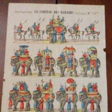 Coleccionismo Recortables: RECORTABLE EPINAL, LE CORTEGE DES RADJAHS (INDES ANGLAISES) SERIE SPECIALE Nº 6, NOUVELLE IMAGERIE D. Lote 177376123