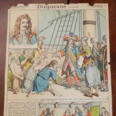 Coleccionismo Recortables: ANTIGUA LAMINA D´EPINAL, PELLERIN, DUQUESNE Nº 14, MIDE 39,5 X 28 CMS. CON DESPERFECTOS TAL COMO SE . Lote 177377045