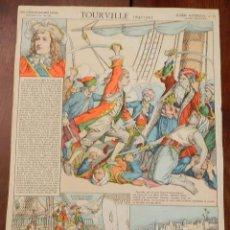 Coleccionismo Recortables: ANTIGUA LAMINA D´EPINAL, PELLERIN, TOURVILLE, GLOIRES NATIONALES Nº 15, SERIE SUPERIEURE AUX ARMES D. Lote 177377369