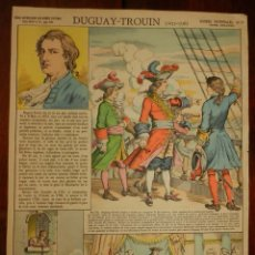 Coleccionismo Recortables: ANTIGUA LAMINA D´EPINAL, PELLERIN, DUGUAY TROUIN, GLOIRES NATIONALES Nº 17, SERIE SUPERIEURE AUX ARM. Lote 177377664