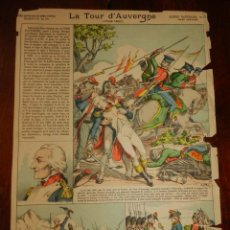 Coleccionismo Recortables: ANTIGUA LAMINA D´EPINAL, PELLERIN, LA TOUR D´AUVERGNE, GLOIRES NATIONALES Nº 23, SERIE SUPERIEURE AU. Lote 177378543