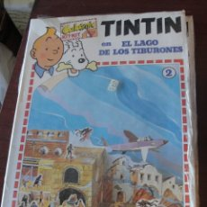 Coleccionismo Recortables: TINTIN EN EL LAGO DE LOS TIBURONES - CALCOMIC 2 - 1982 - PRECINTADO STOCK DE LIBRERIA. Lote 177612804