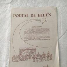 Coleccionismo Recortables: PORTAL DE BELEN. RECORTABLE SALVATELLA. 1959. Lote 178008474
