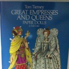 Coleccionismo Recortables: PAPER DOLLS- GREAT EMPRESSES AND QUEENS - AÑO 1982- MUY BIEN CONSERVADO. Lote 178219566