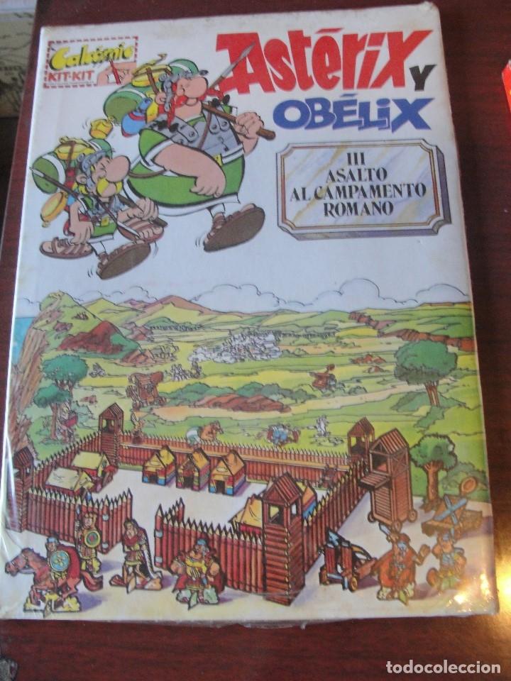 ASTERIX Y OBELIX III ASALTO AL CAMPAMENTO ROMANO - CALCOMIC - PRECINTADO - TIPO KALKITOS - 1991 (Coleccionismo - Otros recortables)