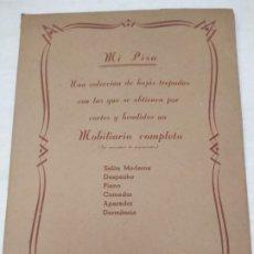 Coleccionismo Recortables: EDICIONES BARSAL. MI PISO. HOJAS TROQUELADAS. MOBILIARIO COMPLETO. BARCELONA. S.XX. Lote 179956828