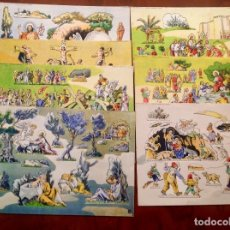 Coleccionismo Recortables: PANORAMAS-SERIE COLOR-SEIX BARRAL-NÚMEROS 27 A 33-TEMAS EVANGÉLICOS-COMPLETO. Lote 180449332