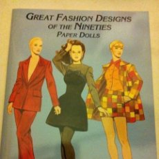 Coleccionismo Recortables: GREAT FASHION DESIGNS OF THE NINETIES- (PAPER DOLLS 2001)- MUY BIEN CONSERVADO- 23X31 CM. Lote 182984695