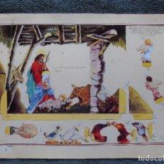 Coleccionismo Recortables: FACSIMIL. ANTIGUO RECORTABLE. NACIMIENTO, NAVIDEÑO. HIJOS DE SANTIAGO ROGRIGUEZ. SERIE 1 4 PLIEGOS.. Lote 183708926