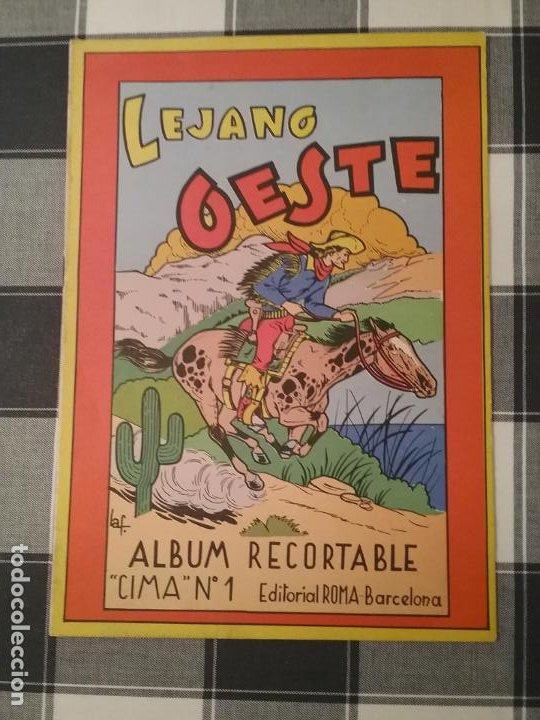 ÁLBUM RECORTABLE EL LEJANO OESTE CIMA 1 EDITORIAL ROMA (Coleccionismo - Otros recortables)