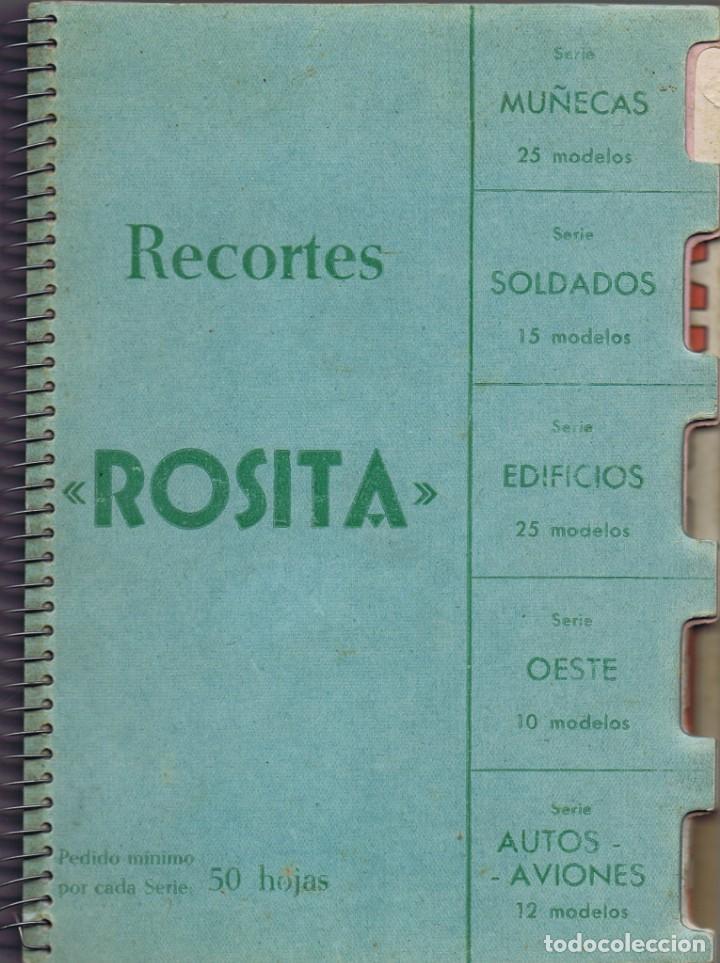 MUESTRARIO COMPLETO DE RECORTES ROSITA DE EDITORIAL ROMA CON 87 MODELOS. (Coleccionismo - Otros recortables)