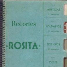 Coleccionismo Recortables: MUESTRARIO COMPLETO DE RECORTES ROSITA DE EDITORIAL ROMA CON 87 MODELOS.. Lote 183799046