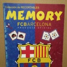 Coleccionismo Recortables: MEMORY FC BARCELONA RECORTABLE . Lote 184319426