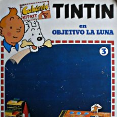 Coleccionismo Recortables: CALCOMIC KIT KIT TINTIN Nº3- OBJETIVO LA LUNA. Lote 186145140