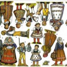 Coleccionismo Recortables: RECORTABLE BELEN - NACIMIENTO CHECO. REGION DE JIHOCESKY. 8 LÁMINAS. VER FOTOS. Lote 187284011