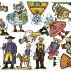 Coleccionismo Recortables: RECORTABLE BELEN - NACIMIENTO CHECO. REGION DE ZAPADOCESKY 8 LÁMINAS. VER FOTOS. Lote 187286556