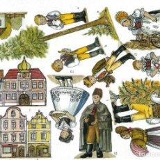 Coleccionismo Recortables: RECORTABLE BELEN - NACIMIENTO CHECO. REGION DE VYCHODOCESKY. 8 LÁMINAS. VER FOTOS. Lote 187288720