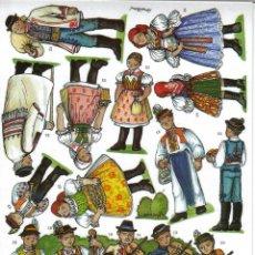 Coleccionismo Recortables: RECORTABLE BELEN - NACIMIENTO CHECO. REGION DE MORAVA 1. 9 LÁMINAS. VER FOTOS. Lote 187290013