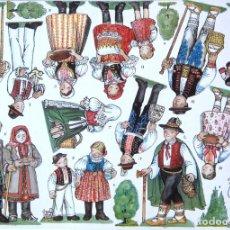 Coleccionismo Recortables: RECORTABLE BELEN - NACIMIENTO CHECO. REGION DE MORAVA 2. 8 LÁMINAS. VER FOTOS. Lote 187291693