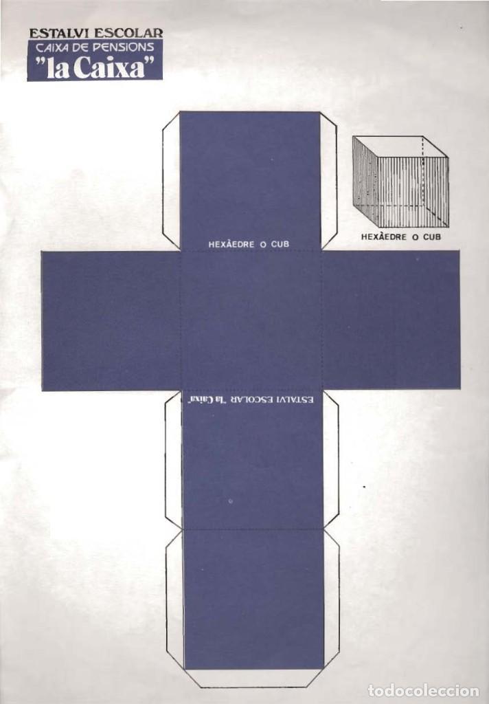 LOTE 4 LÁMINAS DE 23 X 33 CM RECORTABLES FIGURAS GEOMÉTRICAS (Coleccionismo - Otros recortables)