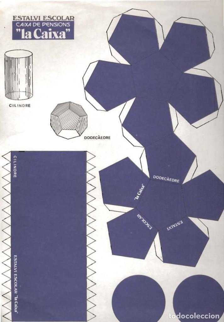 Coleccionismo Recortables: lote 4 láminas de 23 x 33 cm recortables figuras geométricas - Foto 2 - 187369883