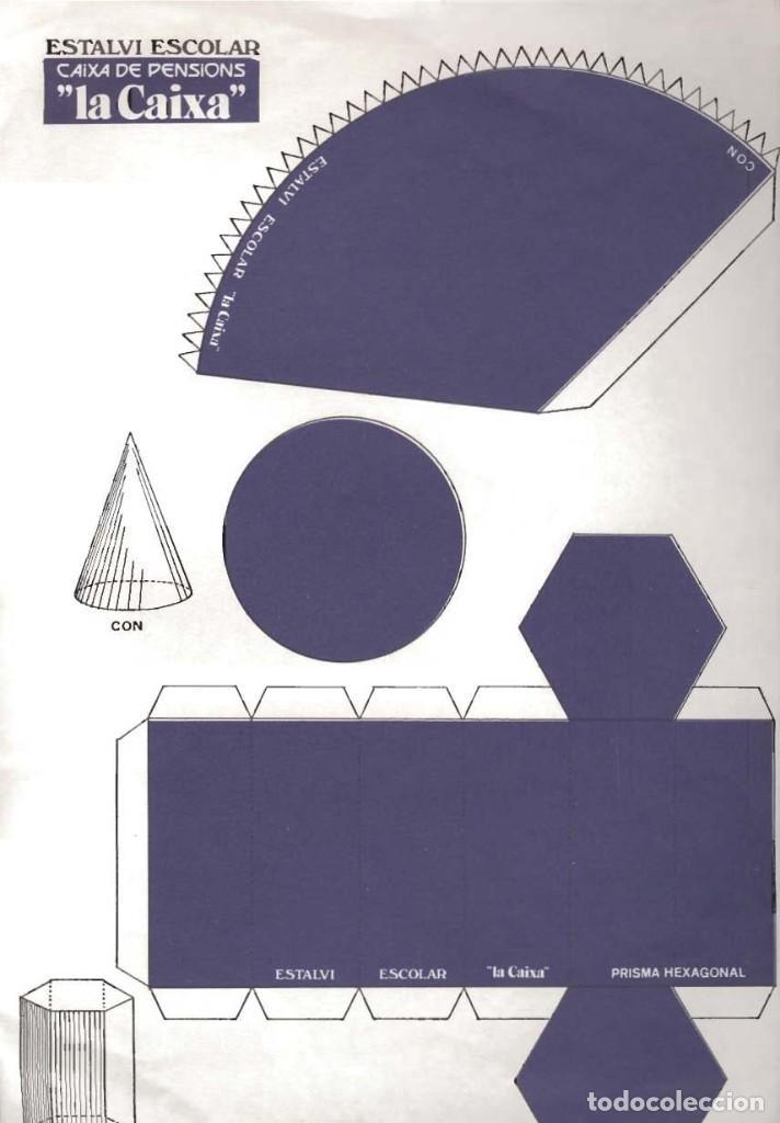 Coleccionismo Recortables: lote 4 láminas de 23 x 33 cm recortables figuras geométricas - Foto 3 - 187369883