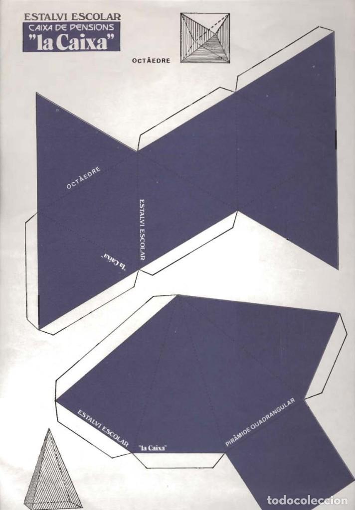 Coleccionismo Recortables: lote 4 láminas de 23 x 33 cm recortables figuras geométricas - Foto 4 - 187369883