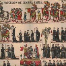Coleccionismo Recortables: PROCESIÓN DE SEMANA SANTA (PALUZÍE). Lote 187474652