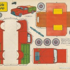 Coleccionismo Recortables: NUEVE RECORTABLES BRUGUERA. AUTOMÓVILES. Lote 190041496