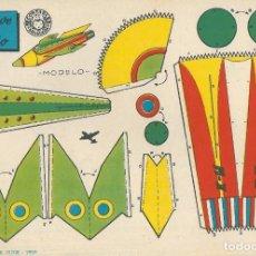 Coleccionismo Recortables: NUEVE RECORTABLES BRUGUERA. AERONAVES.. Lote 190041710