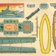 Coleccionismo Recortables: NUEVE RECORTABLES BRUGUERA. NAVES.. Lote 190041858