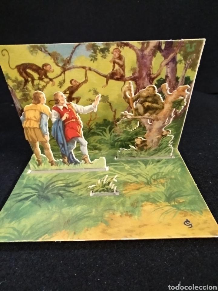 Coleccionismo Recortables: Diorama plegable, fábulas de esopo, n°5, el hombre sincero y el falso. Barsal - Foto 2 - 191877498