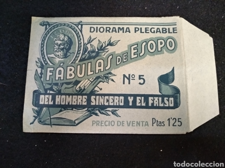 Coleccionismo Recortables: Diorama plegable, fábulas de esopo, n°5, el hombre sincero y el falso. Barsal - Foto 3 - 191877498