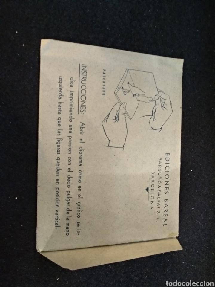 Coleccionismo Recortables: Diorama plegable, fábulas de esopo, n°5, el hombre sincero y el falso. Barsal - Foto 4 - 191877498