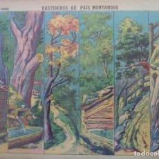 Coleccionismo Recortables: LIT DE HIJOS DE PALUZIE BASTIDORES DE PAIS MONTAÑOSO Nº 509. Lote 193952416