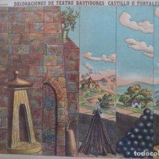 Coleccionismo Recortables: ESTAMPERIA ECONOMICA PALUZIE DECORACIONES DE TEATRO BASTIDORES CASTILLO O FORTALEZA. Lote 193952731